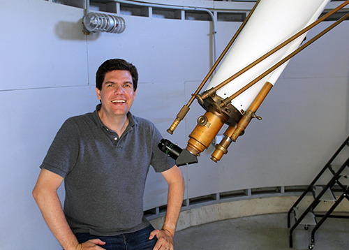 Michal Faison at Leitner Family Observatory and Planetarium
